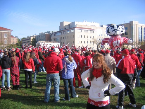 """The UW Band playing various renditions of """"On Wisconsin"""""""